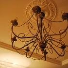 Старинная Винтажная люстра на 8 свечей большая