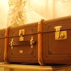 Каретный чемодан 19 века Немецкий Антикварный Чемодан -Кофр