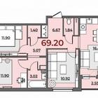 3к мыс ул, Малиновского 69,2м2 новый дом