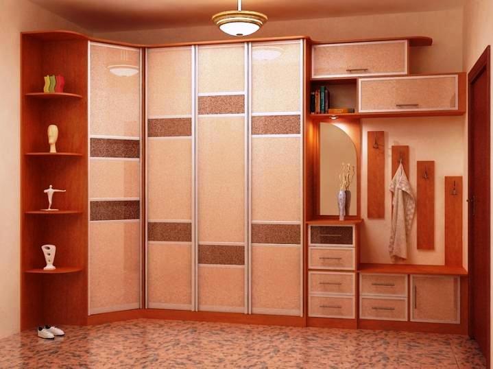 Шкафы купе в коридоре дизайн фото