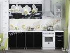 Кухня 2м лдсп Белая орхидея/черное дерерво