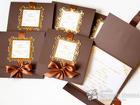 Уникальное фотографию Организация праздников Приглашения на свадьбу в шоколадно - золотом цвете, 69749698 в Уфе