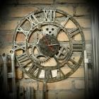 Часы - лофт, Декорированы искусственное старение