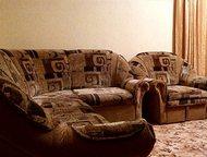 Продам мягкую мебель: угловой диван и кресло Диван:раздвижной, с ящиком для бель