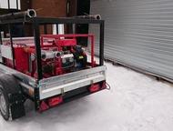 Мобильный пожарный комплекс МПК 0, 3 Установлен на одноосный автомобильный прице