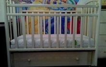 Кроватка с маятником   матрац  бортики