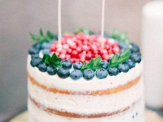 Просмотреть изображение Организация праздников Торты на заказ фруктовые Уфа, торты со свежими ягодами, фруктами, взбитыми сливками и шоколадом 33195489 в Уфе