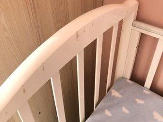 Кроватка детская «Регина» с маятником для качания, с большим ящиком для вещей, состояние на фотографии, матрац с кокосом,  Покупали за 15,  Без торгаСостояние: Б/у в Уфе