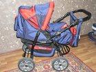 Фото в Для детей Детские коляски Продам срочно коляску-трансформер, красно-синяя, в Ухте 1500