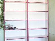 стелажи-витрины Два стеллажа-витрины б/у для торговли, офиса, кабинета. Размеры: