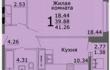 Продаю 1-комнатную квартиру в новом 25 этажном,
