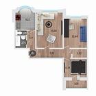 Продам прекрасную квартиру с 100%отделкой расположенную по у