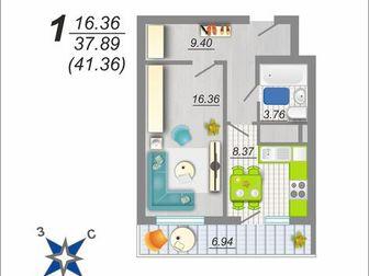 45 Стрелковая Дивизии 259, ЖК Цветной Бульвар, 1 комнатная квартира по, 40 кв, м, в комплексе жилых 17-25 ти этажных домов, черновая и 100 отделка под ключ, комплексное в Воронеже